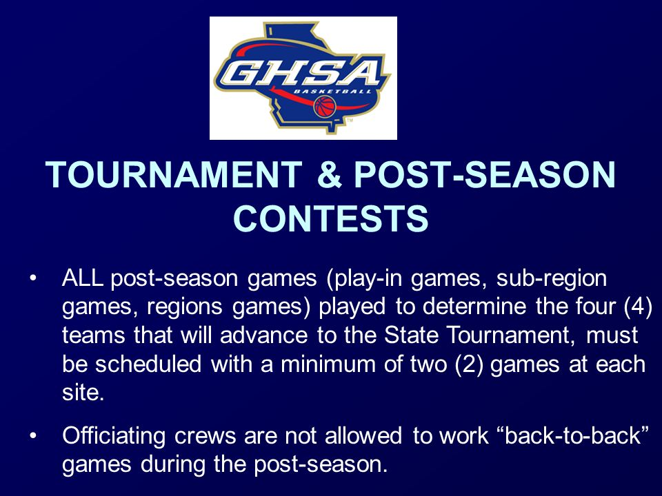 TOURNAMENT & POST-SEASON CONTESTS