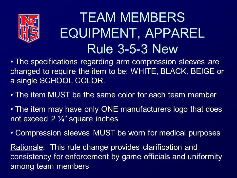 TEAM MEMBERS EQUIPMENT, APPAREL Rule New