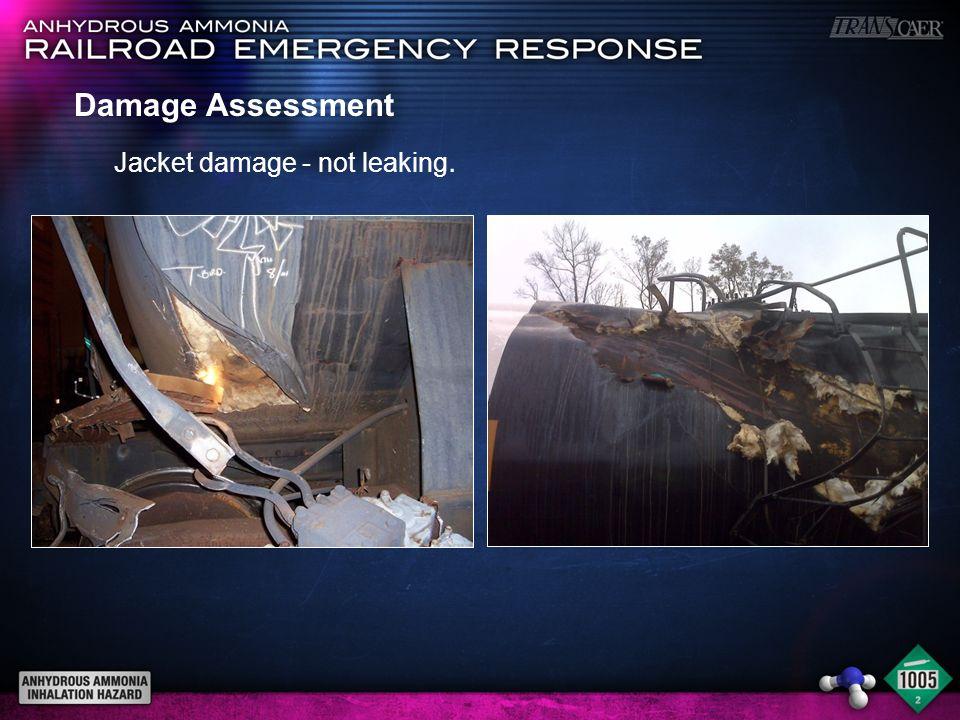Damage Assessment Jacket damage - not leaking.