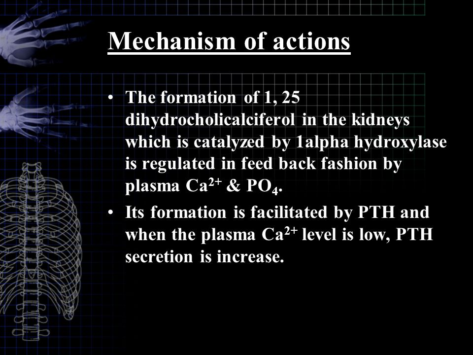 Mechanism of actions