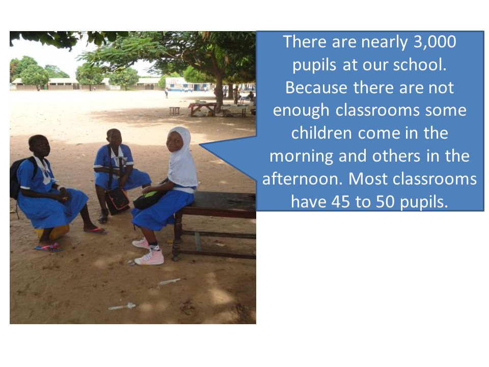 There are nearly 3,000 pupils at our school