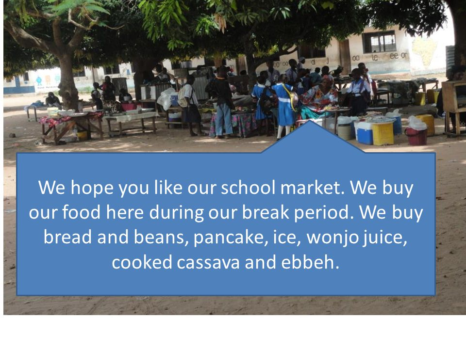 We hope you like our school market
