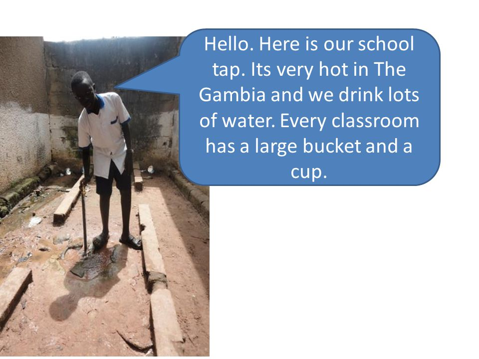 Hello. Here is our school tap