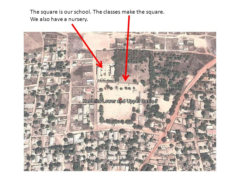 The square is our school. The classes make the square.