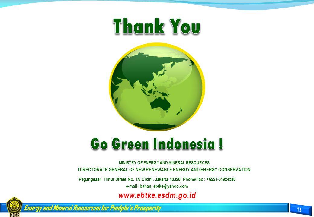 Thank You Go Green Indonesia ! www.ebtke.esdm.go.id
