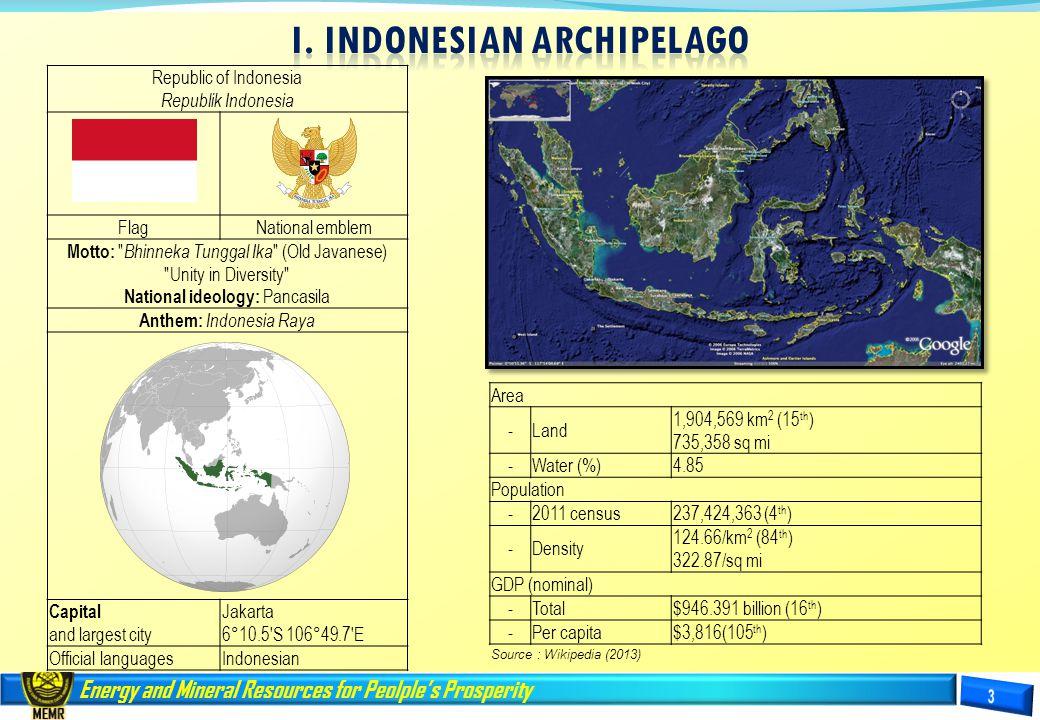 I. INDONESIAN ARCHIPELAGO