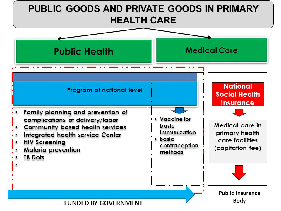PUBLIC GOODS AND PRIVATE GOODS IN PRIMARY HEALTH CARE