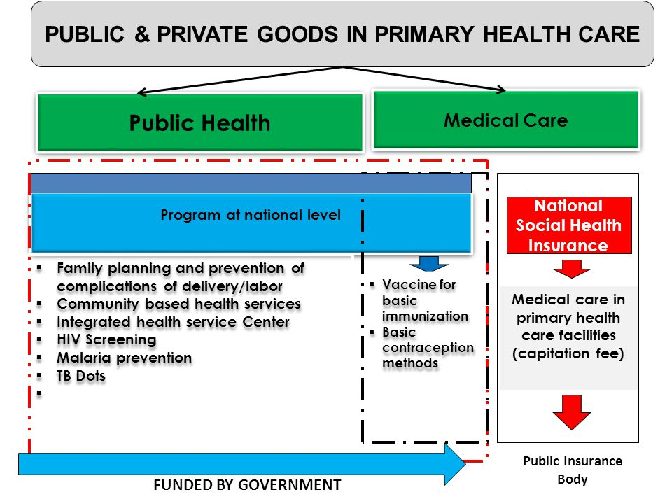 PUBLIC & PRIVATE GOODS IN PRIMARY HEALTH CARE