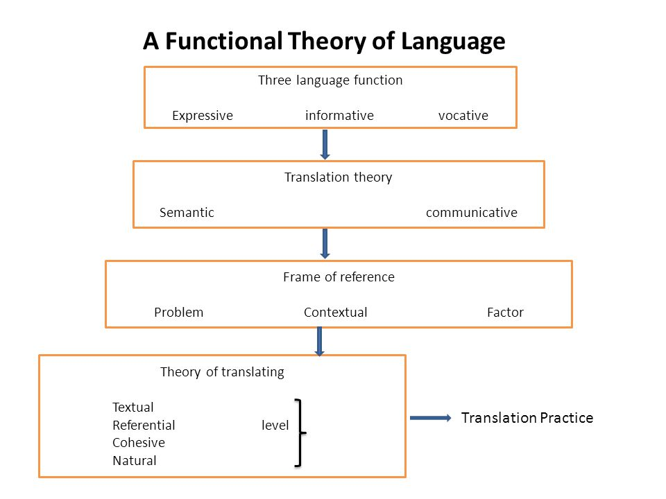 A Functional Theory of Language