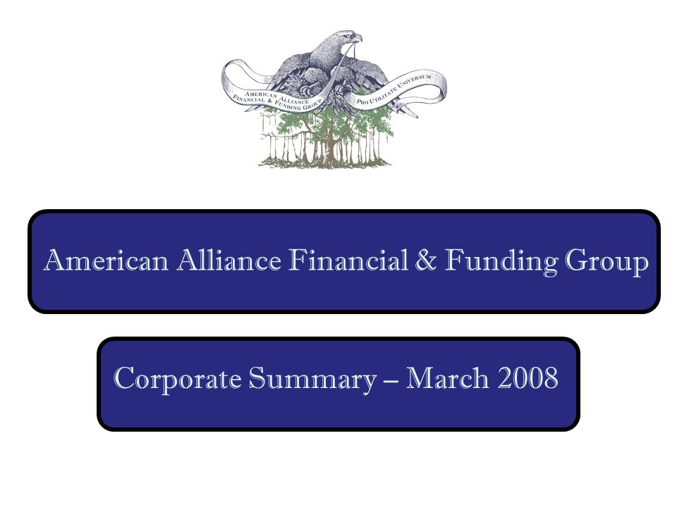 American Alliance Financial & Funding Group