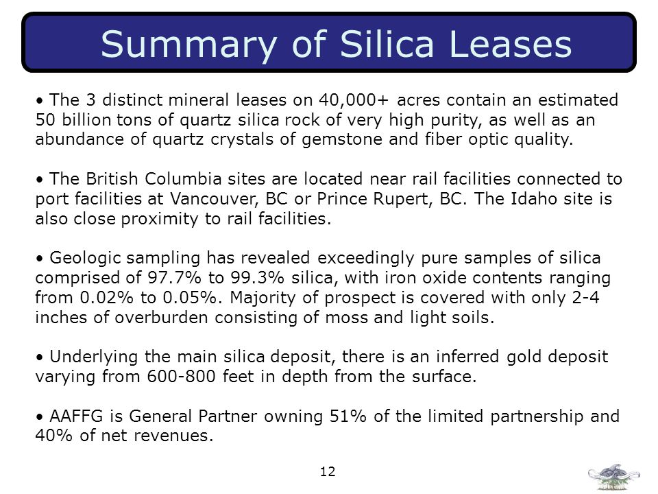 Summary of Silica Leases