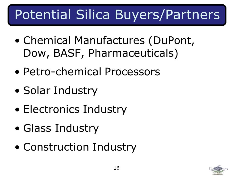 Potential Silica Buyers/Partners