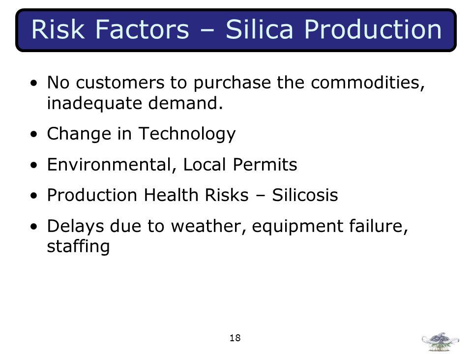 Risk Factors – Silica Production