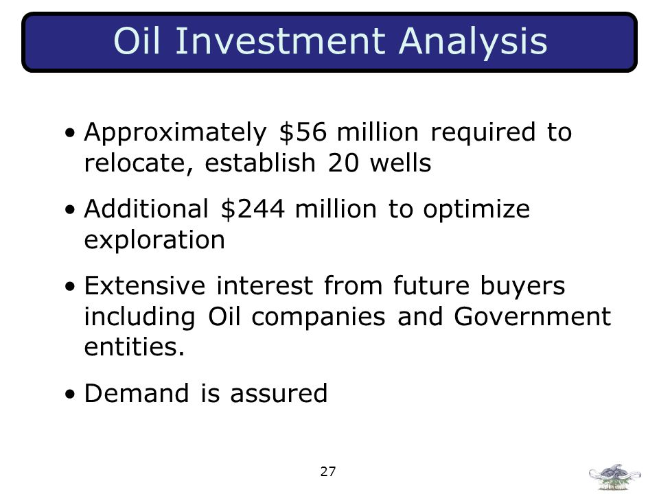 Oil Investment Analysis