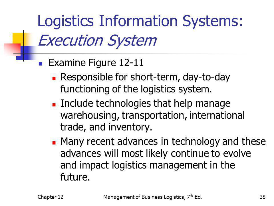 Logistics Information Systems: Execution System