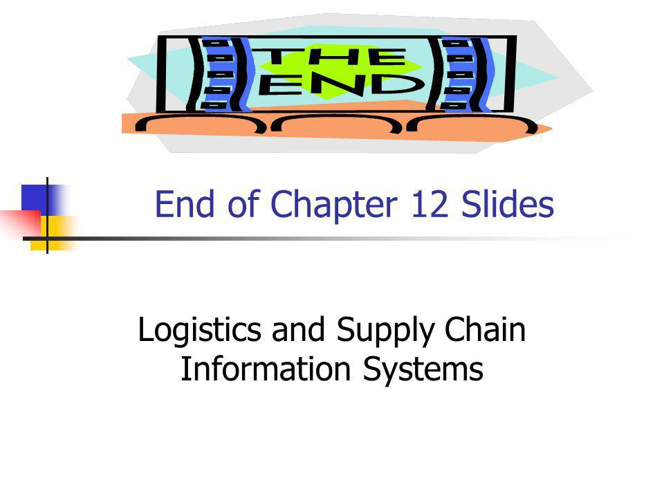 Logistics and Supply Chain Information Systems