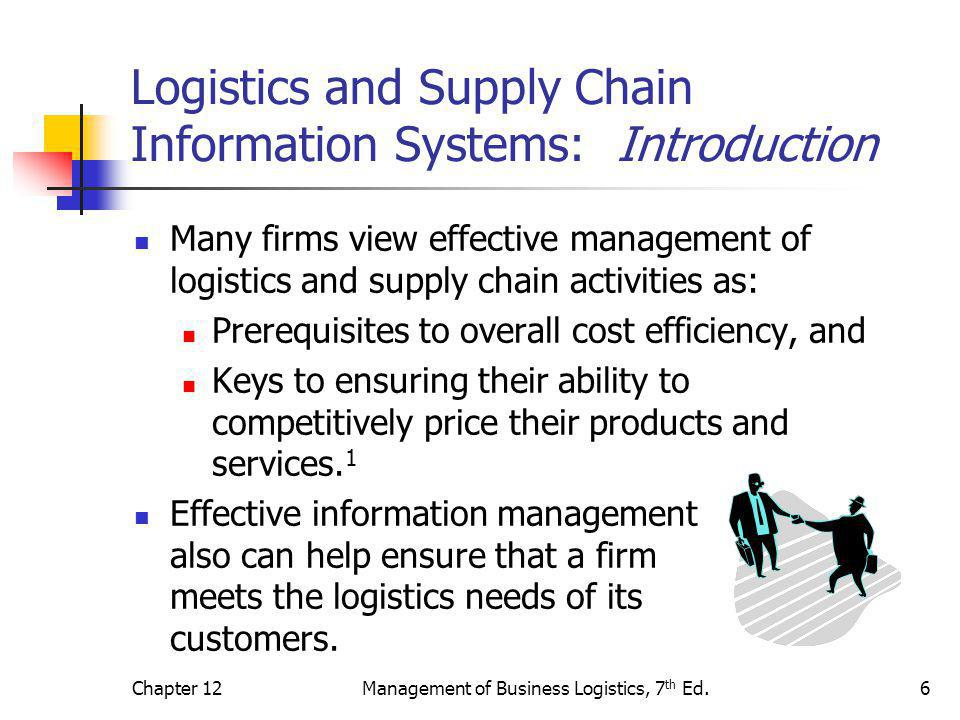 Logistics and Supply Chain Information Systems: Introduction