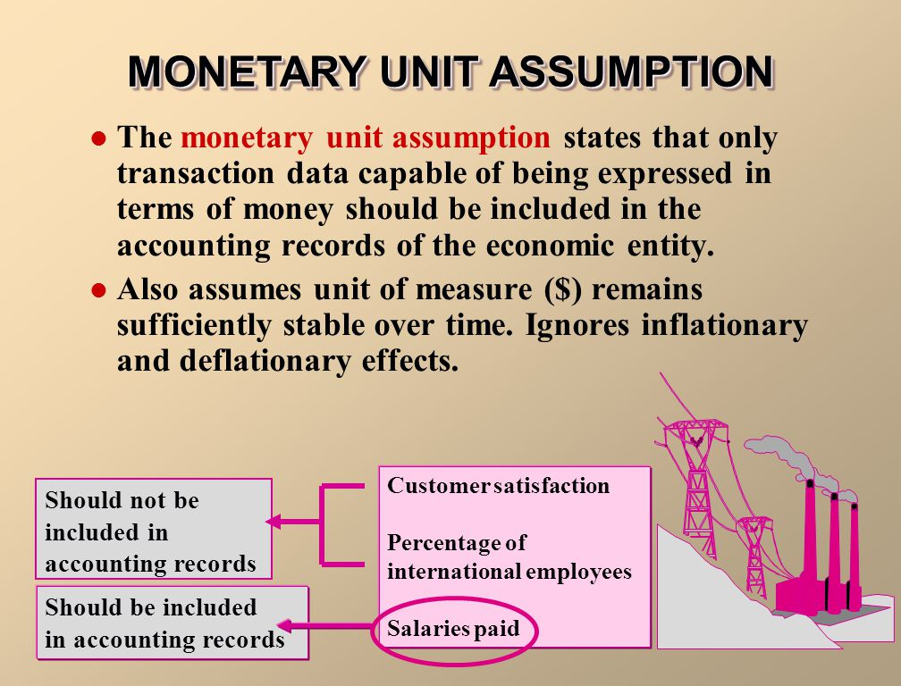 MONETARY UNIT ASSUMPTION