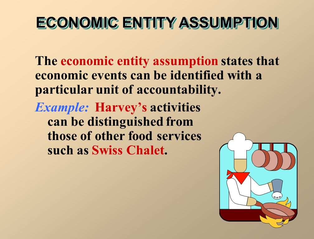 ECONOMIC ENTITY ASSUMPTION