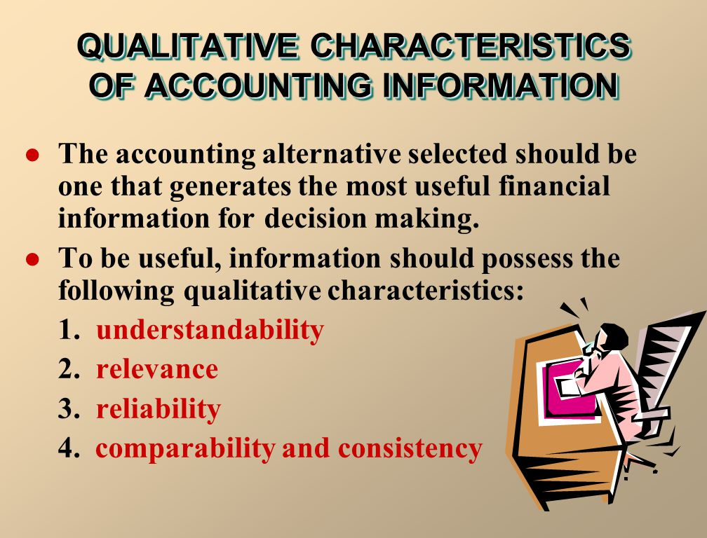 QUALITATIVE CHARACTERISTICS OF ACCOUNTING INFORMATION