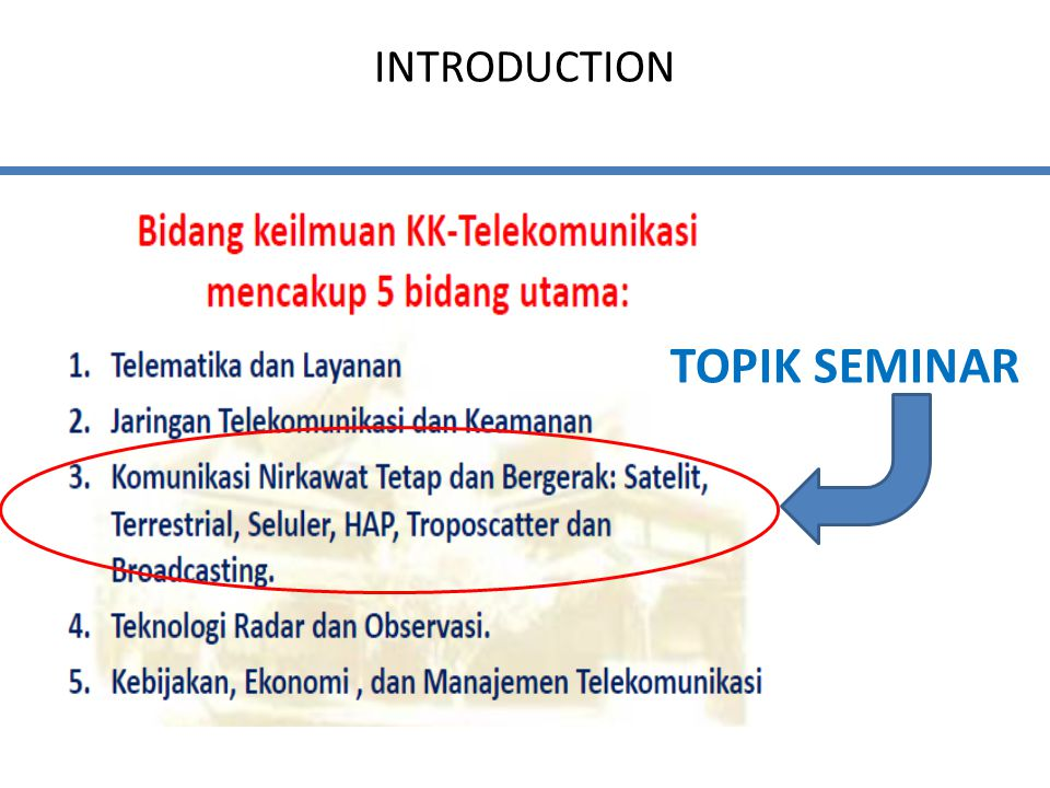 INTRODUCTION TOPIK SEMINAR