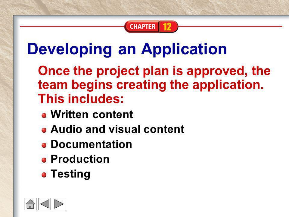 Developing an Application