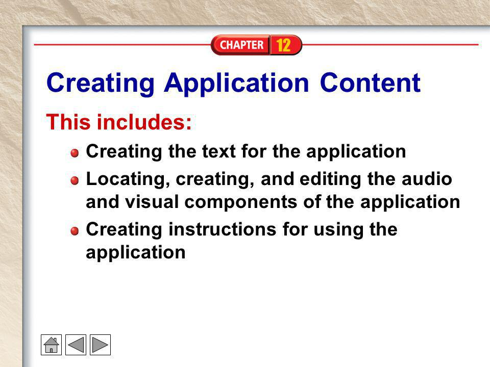 Creating Application Content