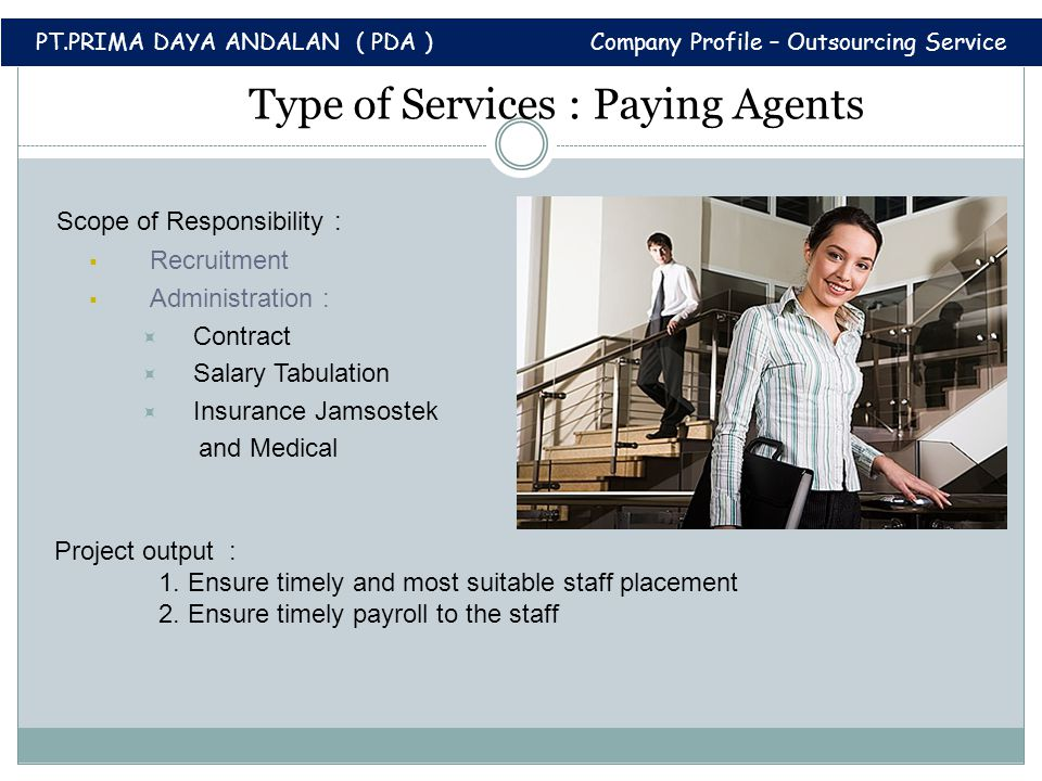 Type of Services : Paying Agents