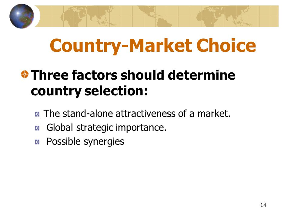 Country-Market Choice
