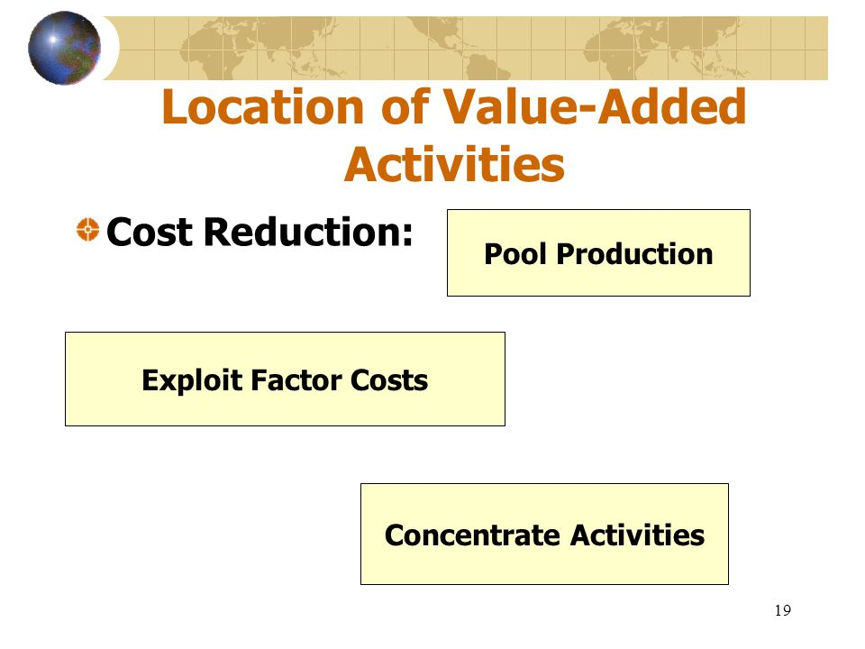 Location of Value-Added Activities