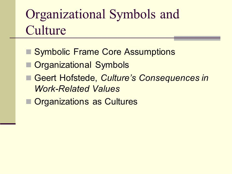 Organizational Symbols and Culture