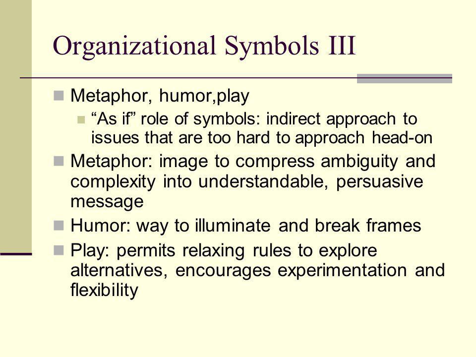 Organizational Symbols III