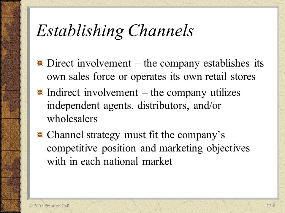 Establishing Channels