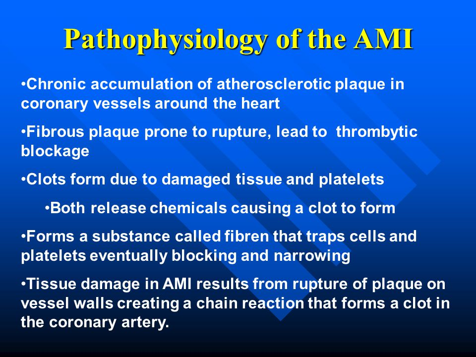 Pathophysiology of the AMI
