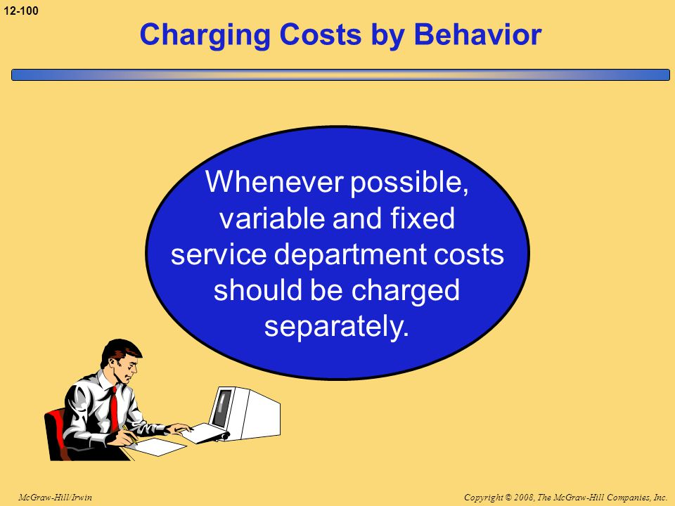 Charging Costs by Behavior