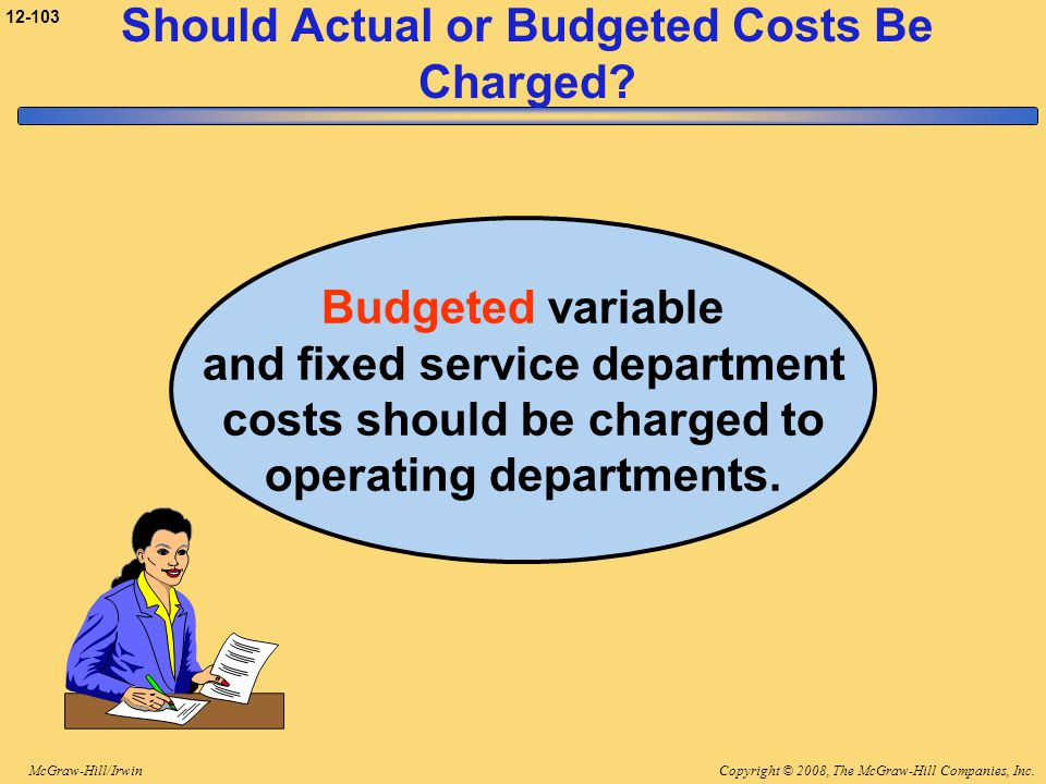 Should Actual or Budgeted Costs Be Charged