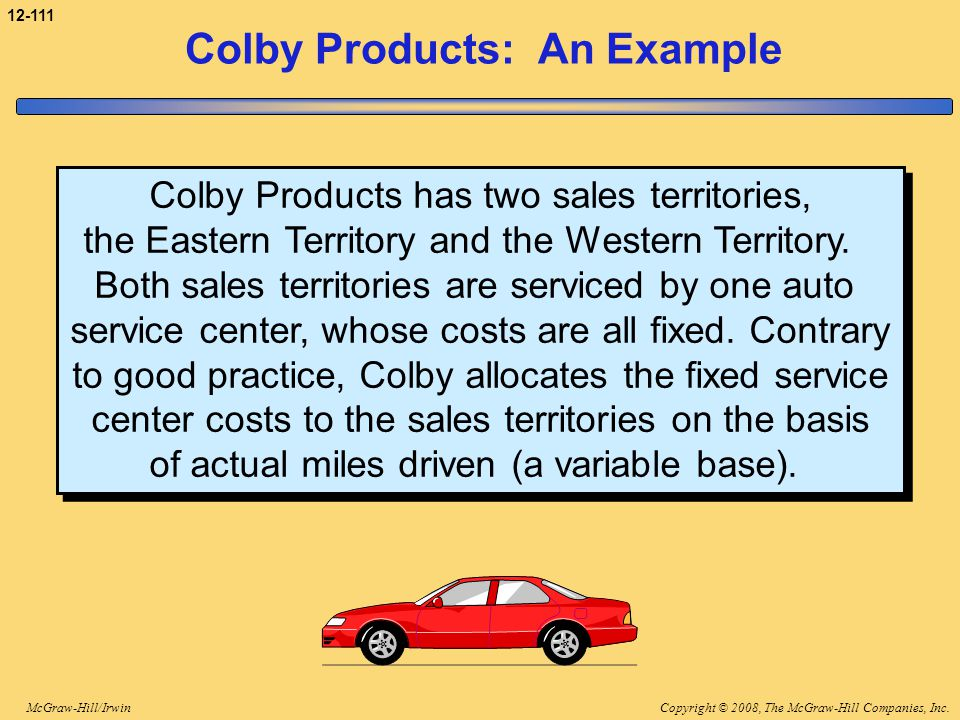 Colby Products: An Example