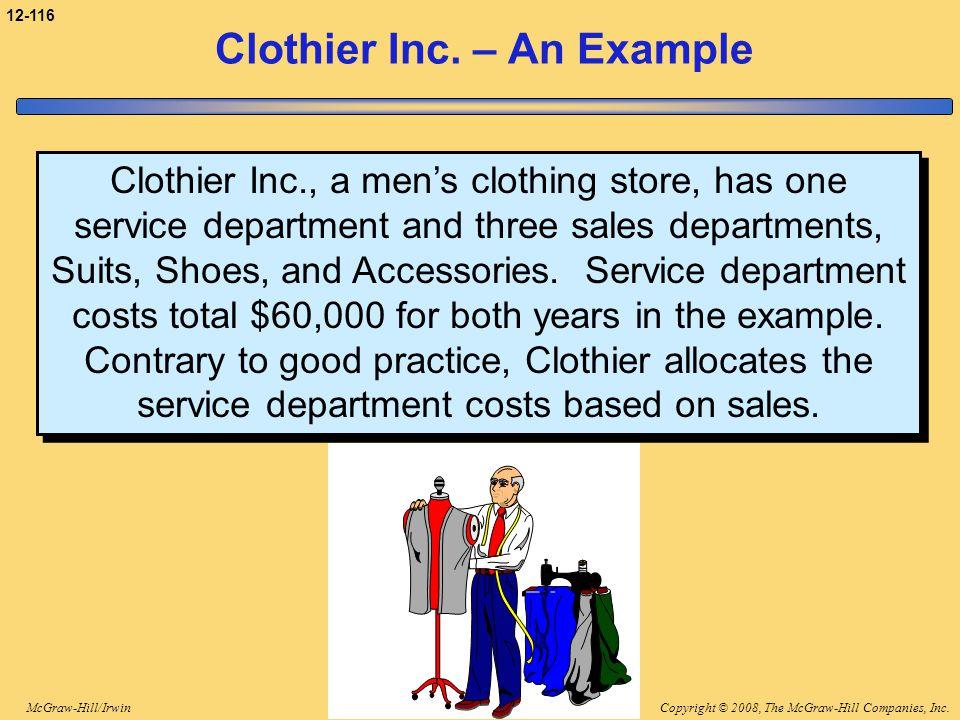 Clothier Inc. – An Example