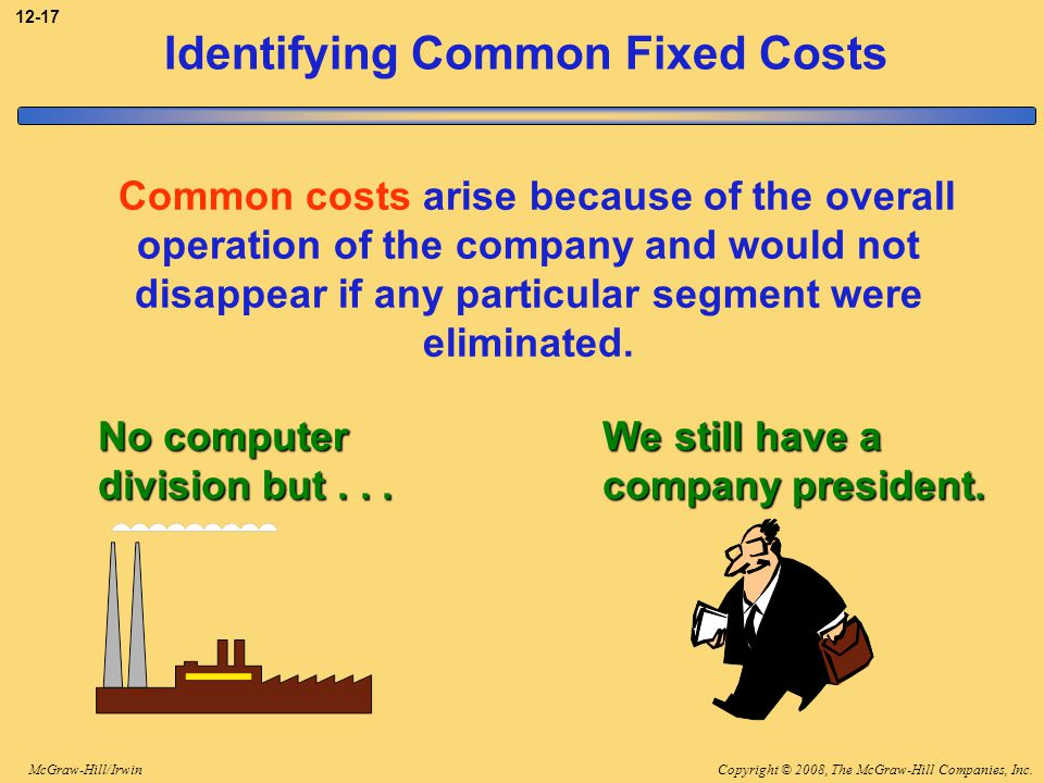 Identifying Common Fixed Costs