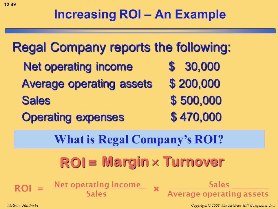 Increasing ROI – An Example