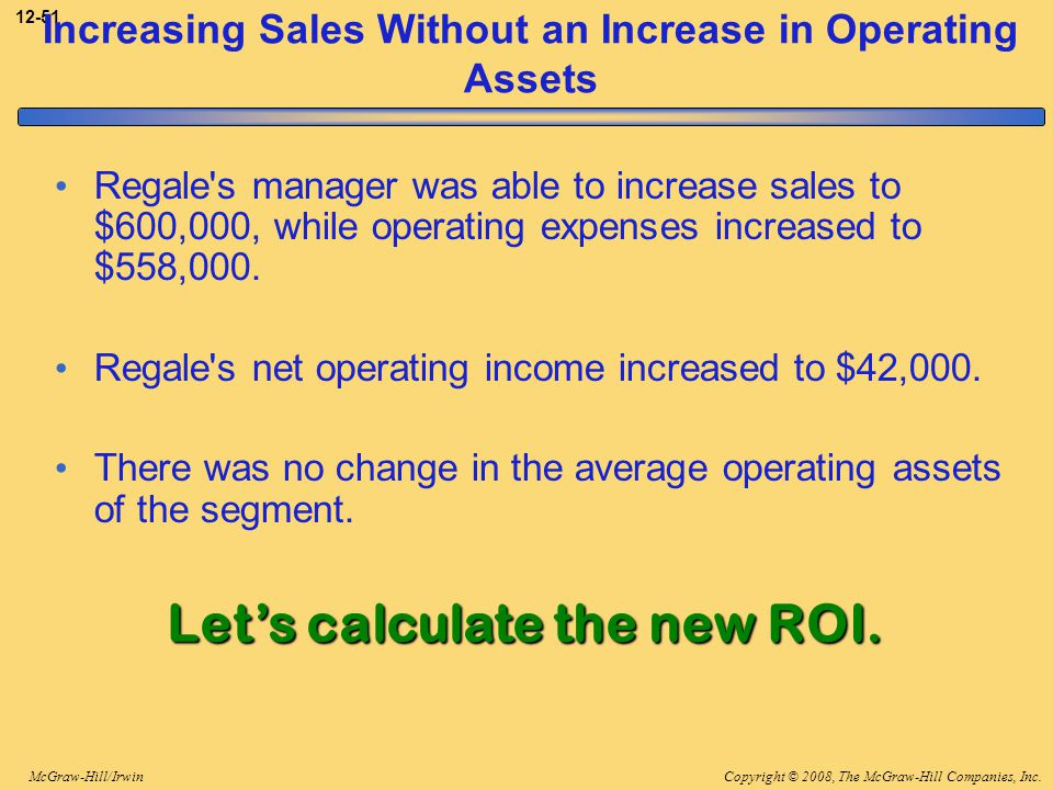 Increasing Sales Without an Increase in Operating Assets