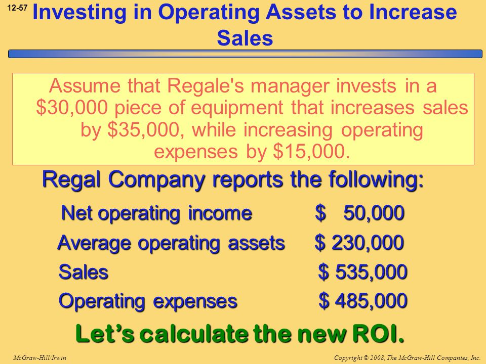Investing in Operating Assets to Increase Sales