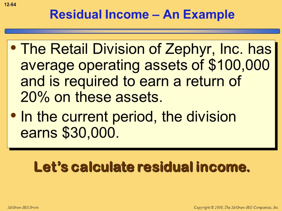 Residual Income – An Example