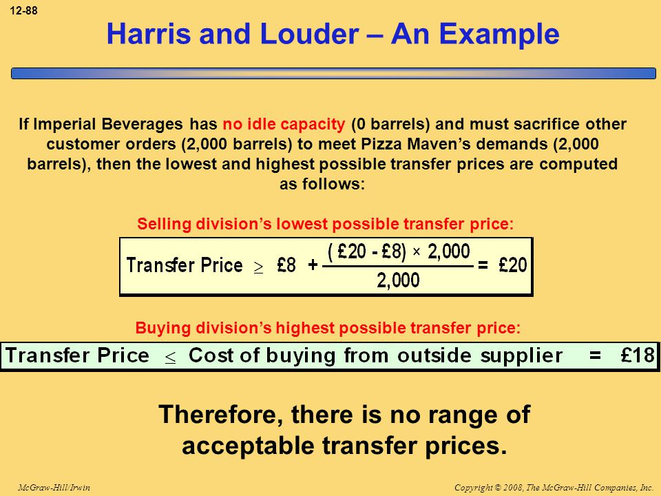Harris and Louder – An Example