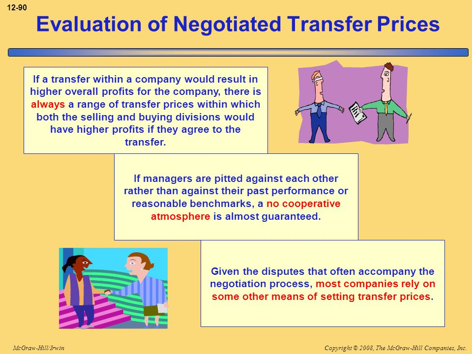 Evaluation of Negotiated Transfer Prices