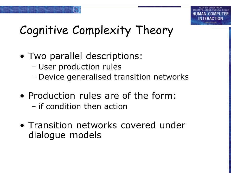 Cognitive Complexity Theory