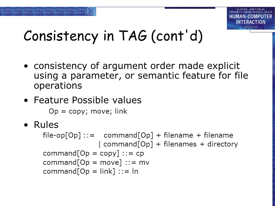 Consistency in TAG (cont d)