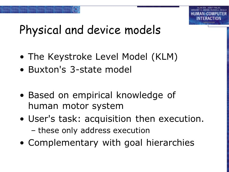 Physical and device models
