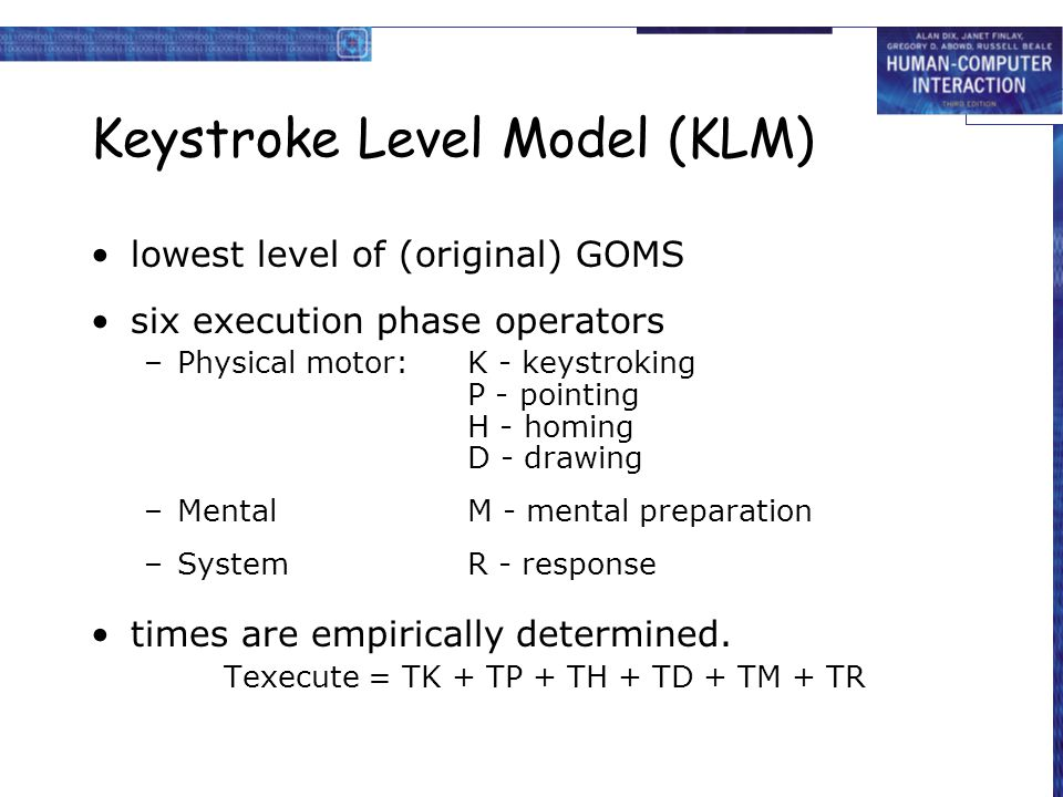 Keystroke Level Model (KLM)