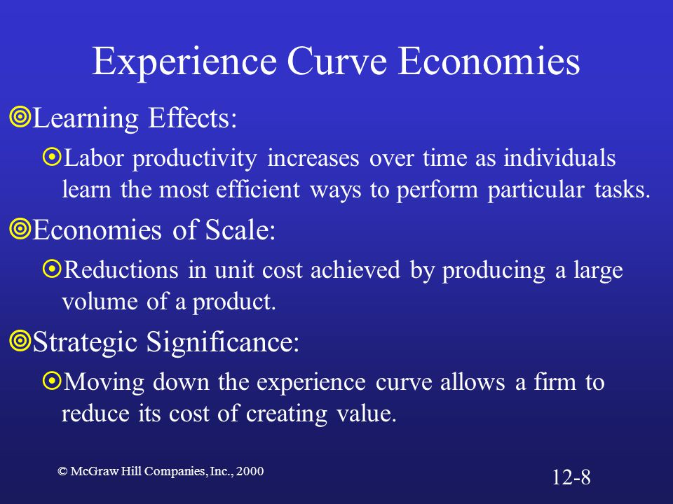 Experience Curve Economies